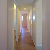 Looking down the hallway towards the bedrooms.