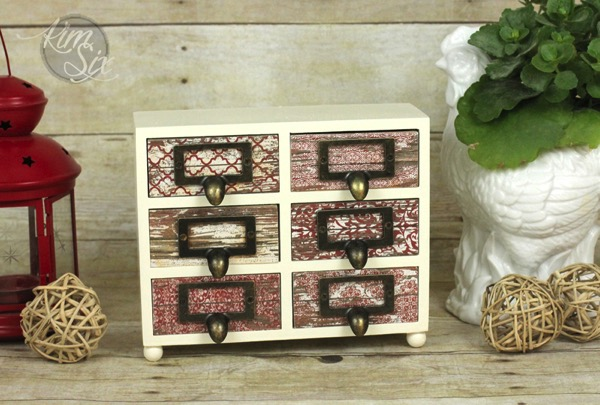 Distressed wood jewlery box