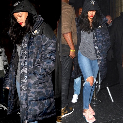 Rihanna in BAPE x PUMA