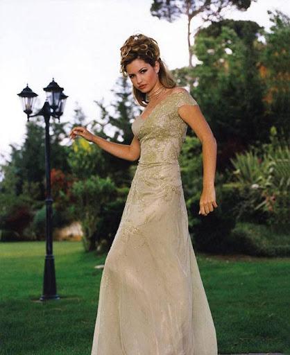 Arab Model Alexandra Bob in a garden