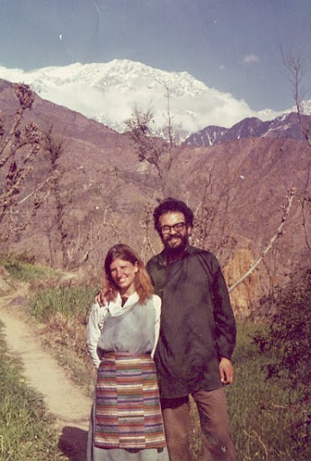 Feather Meston and Lawrence, Dharamsala, 1972