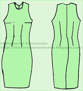 Patrones vestido levantacola