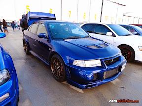 Blue Mitsubishi Evo 6