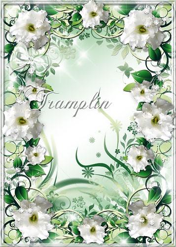 Рамка для фото – Она, как белой магии цветок