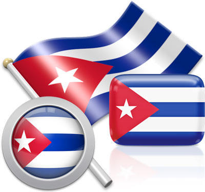 Cuban flag icons pictures collection