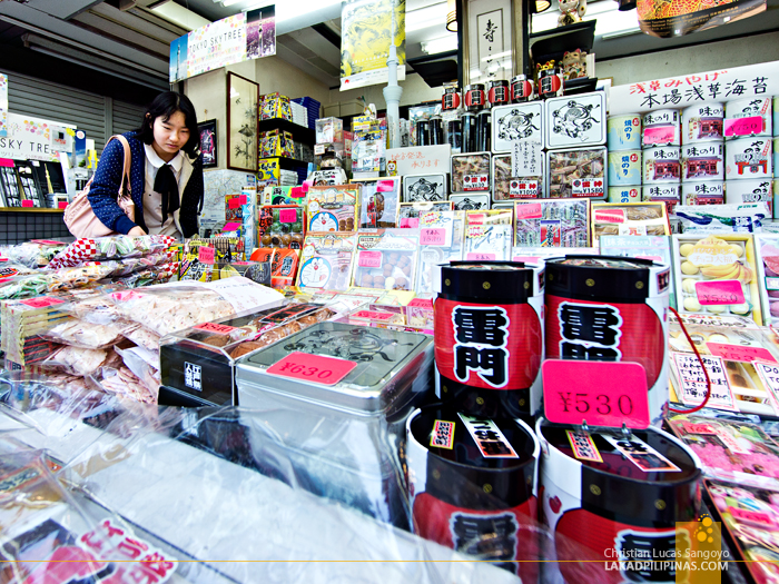 Sweets at Asakusa's Nakamise Shopping Street