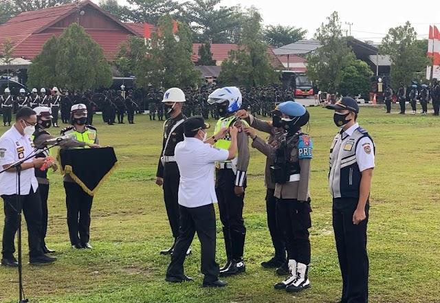Pimpin Apel Gelar Pasukan Operasi Ketupat 2021, Ini Pesan Gubernur Kalteng
