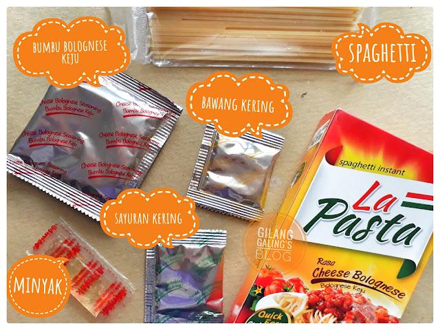 Spaghetti Instant La Pasta Bolognese Keju Bahan ini merupakan bumbu pelengkap yang ada di dalam spagettinya