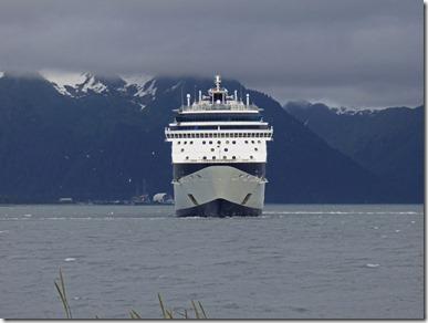 Millennium Cruises Shipping leaving Seward Alaska