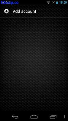 Zoiper Android Accounts menu