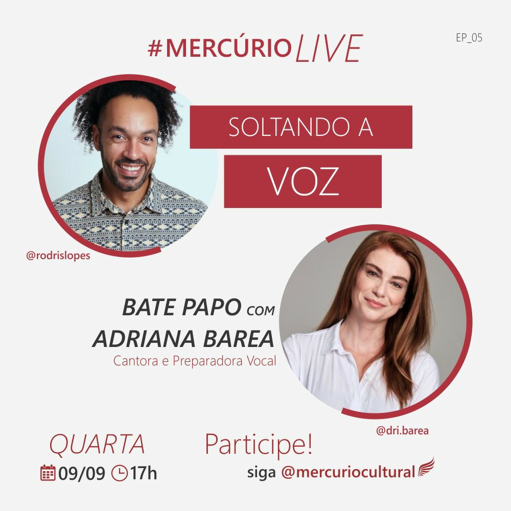 [Notícias] Mercúrio Cultural promove bate-papo com Adriana Barea