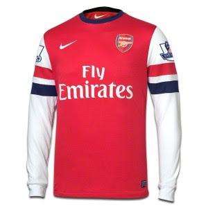Jual Jersey Arsenal Home Lengan Panjang 2014