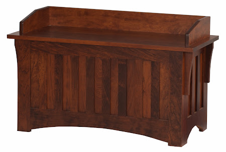 Mission Chest with Custom Backboard, in Antique Cherry