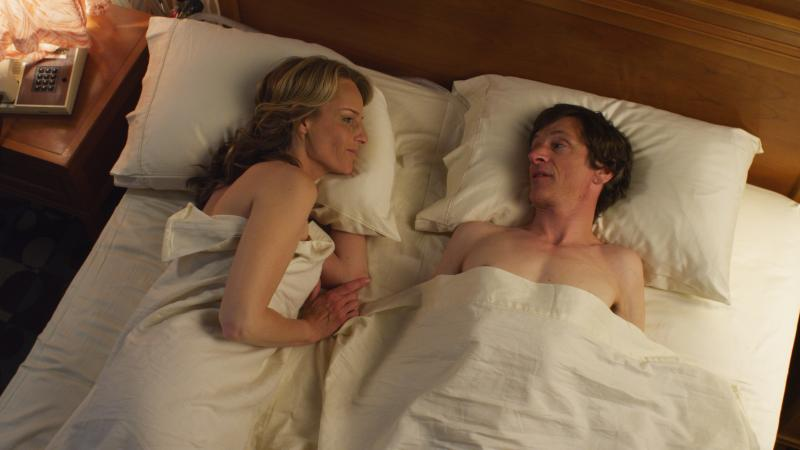 Helen Hunt and John Hawkes in THE SESSIONS. Courtesy of Fox Searchlight Pictures