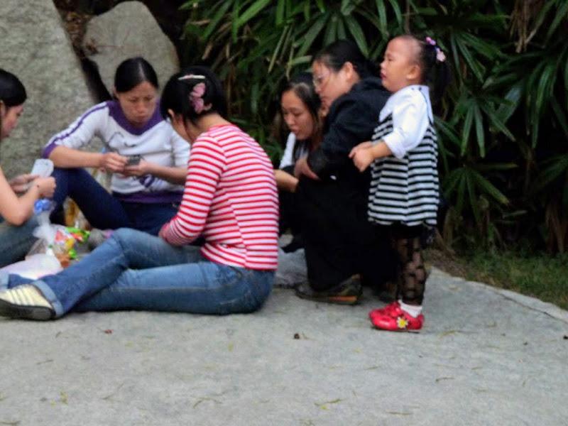 Xiamen, dans un autre parc, partie de cartes