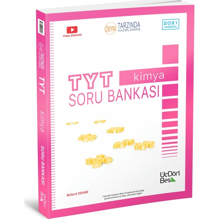 345 Yayınları - TYT Kimya - Soru Bankası