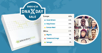 DNA Day sale - 30% off through April 25th (Midnight PDT). US and Canada only. Click here to order.