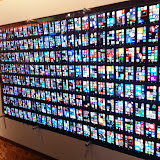 Wall of 200 Nokia Windows Phones.  More details here: http://www.theverge.com/2013/6/27/4472316/200-windows-phones-build-2013