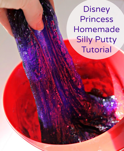 Disney Princess Glittery Homemade Silly Putty Tutorial #DisneyEaster