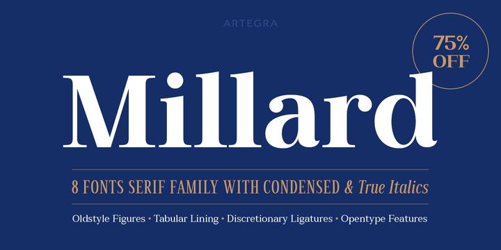 Download Millard Font Family From Artegra