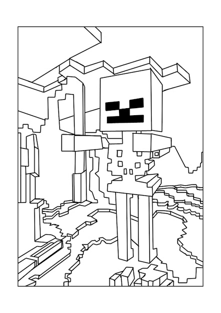 Free Minecraft Coloring Pages  Original Printable Pictures Of Minecraft  Characters  Steve Creepers Enderman Ender Dragon Zombies And Many More