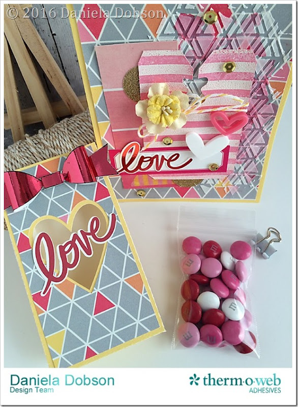 Love bag with card and candy by Daniela Dobson