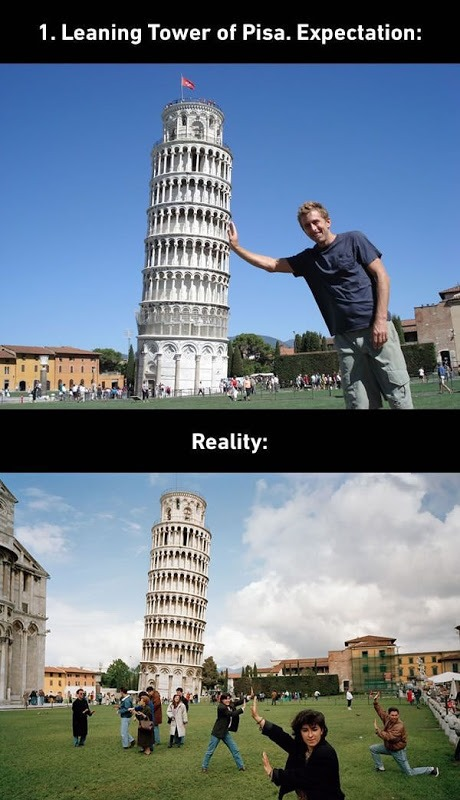 Leaning Tower of PISA Expectations vs. Reality