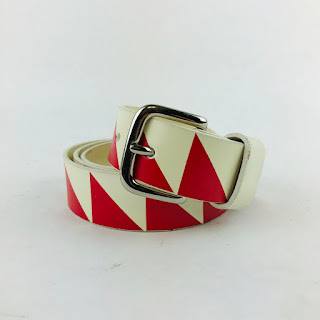 Marc Jacobs Red & White Belt