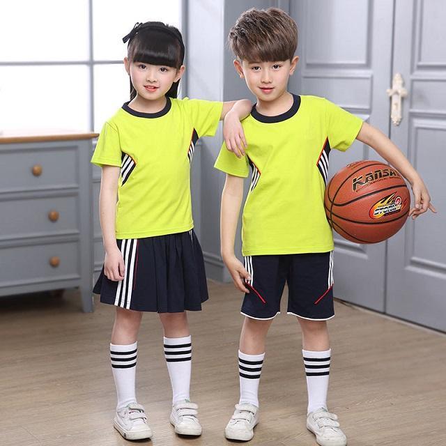 Đồng phục mầm non cho trẻ màu vàng