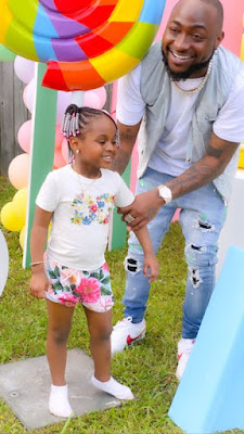 Davido Spanks Daughter, Hailey For Twerking At Her 4th Birthday Party