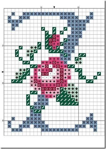 abc punto cruz letras con rosas  (25)