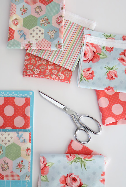 Dots and Posies fabric from Poppie Cotton - found on A Bright Corner blog - you have to see what she made with these!