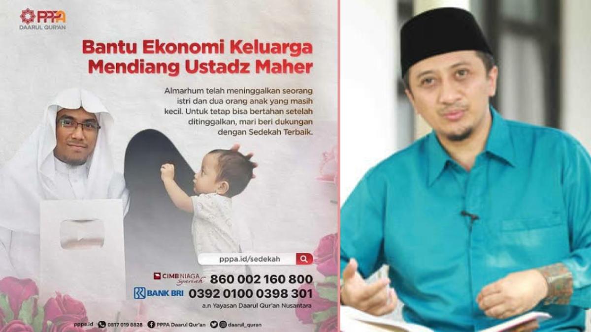 Yusuf Mansur: Donasi untuk Istri dan Anak Ustadz Maaher Tembus Hampir Rp400 Juta
