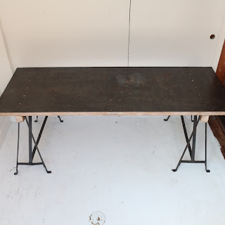Steel Top Sawhorse Table
