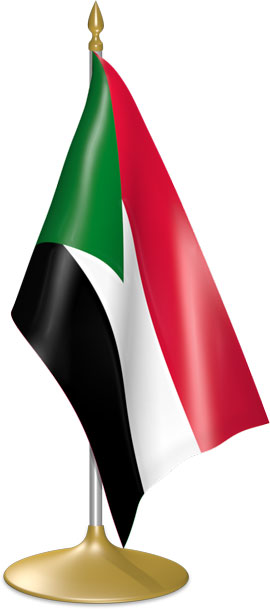 Sudanese table flags - desk flags