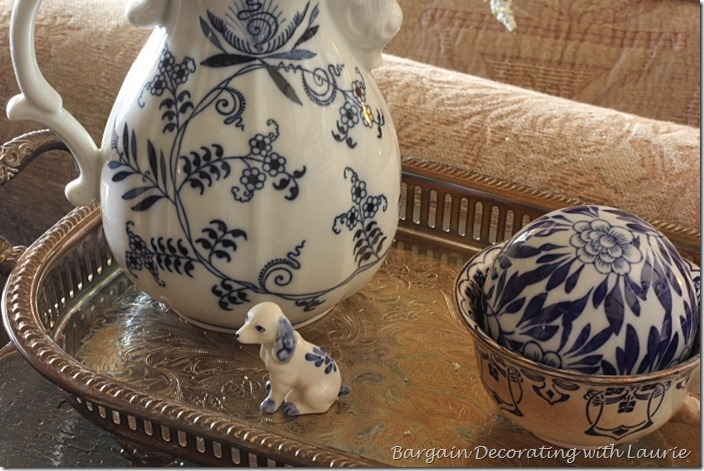 Blue-White Spring Vignettes-Bargain Decorating with Laurie