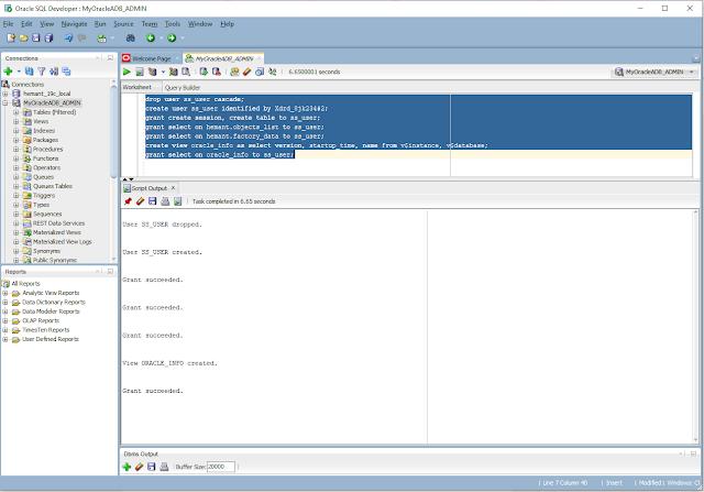SQL Developer to Oracle ADB