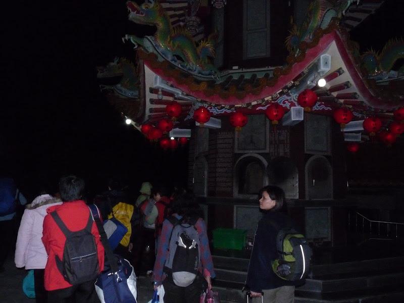 le soir , arrivée au temple où il y des dortoirs