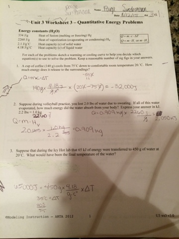 Unit 3 Worksheet Quantitative Energy Problems - Geotwitter Kids ...