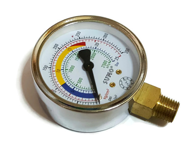 เกจ์วัดแรงดันแก๊ส ( HIGH PRESSURE GAUGE ) SUMO 25 kg./cm2