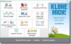 برنامج PDF24 Creator لإنشاء ملفات ال PDF وتحويل أى ملف أو صورة إلى -1