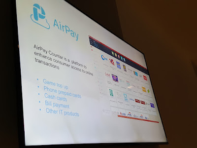 Airpay is popular especially in rural Southeast Asia. The reverse ATM network allows customers to exchange cash at brick-and-mortar shops for digital currency that they can use to pay for digital goods as well as physical goods.