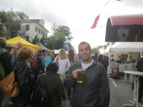 Me with a delicious bite-sized hefeweizen from whatever weekend fair it was (learning the language but couldn't decode the signs).... of course by the time we got back to the train station we found our bike chain stripped and both our bikes stolen. Damn Europeans.