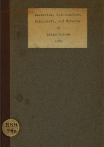 Cover of Allen Putnam's Book Mesmerism Spiritualism Witchcraft And Miracle