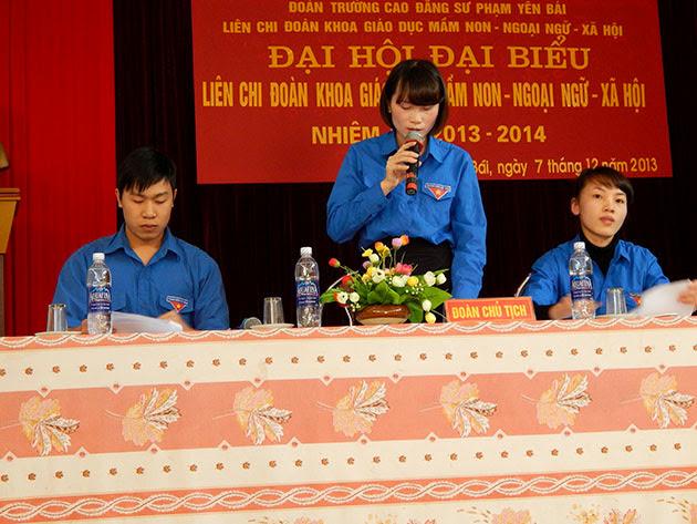 Đại Hội đại biểu Đoàn TNCS Hồ Chí Minh Liên chi Mầm non-Ngoại ngữ-Xã hội, nhiệm kỳ 2013-2014