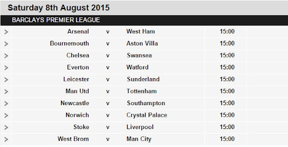 epl fixtures results today