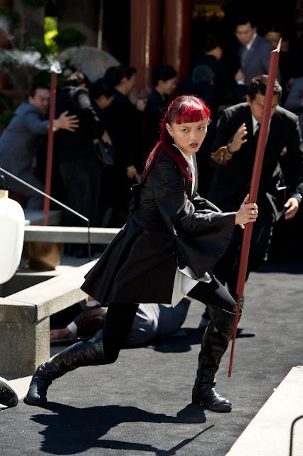 The Wolverine Rila Fukushima Yukio fights at Yashida funeral