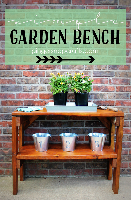 Simple Garden Bench at GingerSnapCrafts.com