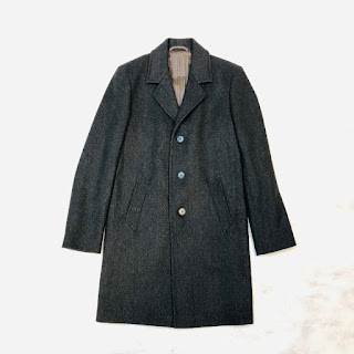 *SALE* Agnes B. Homme Herringbone Coat