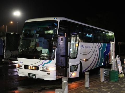 名鉄バス「名古屋~新潟線」 2801 阿智PA休憩中